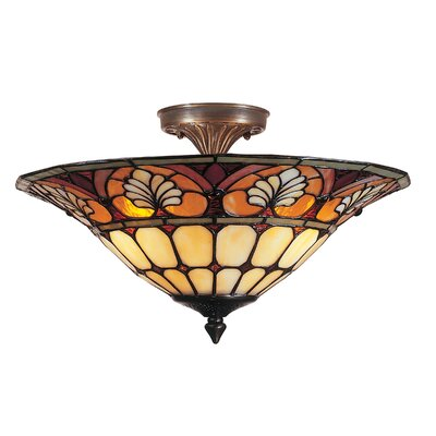 Dylan Tiffany 3-Light Flush Mount