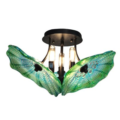 Waterfront 3-Light Semi Flush Mount