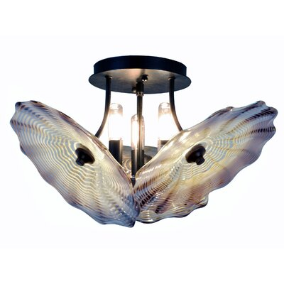 Impasto 3-Light Semi Flush Mount