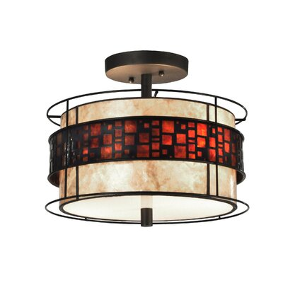 Cobblestone 2-Light Semi Flush Mount