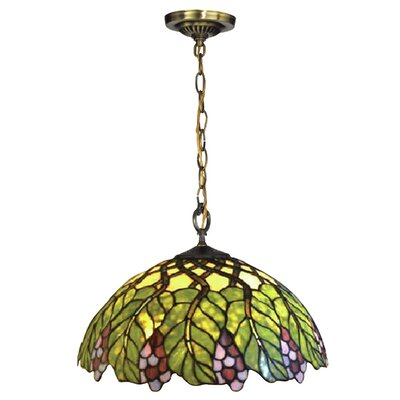 Pinot Noir 1-Light Bowl Pendant