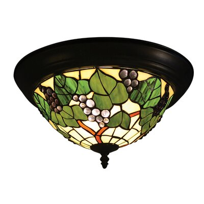 Tiffany Grape 2-Light Flush Mount
