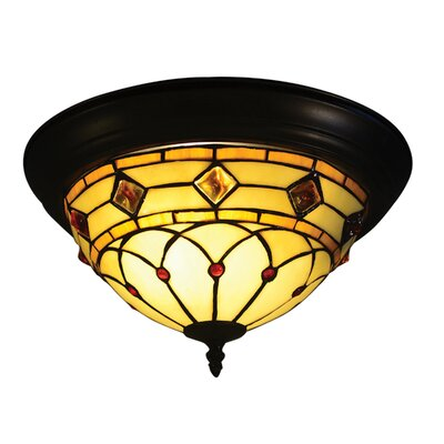 Ginger Diamond 2-Light Flush Mount
