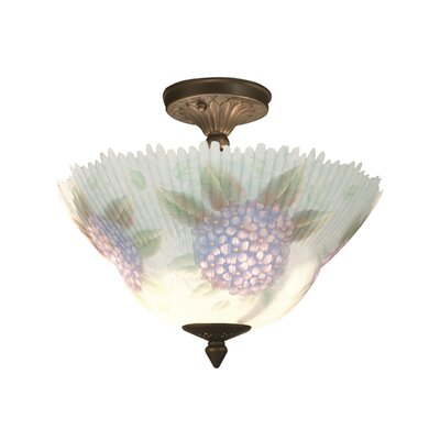 Dragonfly 3-Light Semi Flush Mount