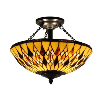 Ginger Diamond 3-Light Semi Flush Mount