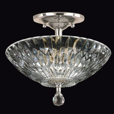 Lightwater 3-Light Semi Flush Mount Base Finish: Polished Chrome