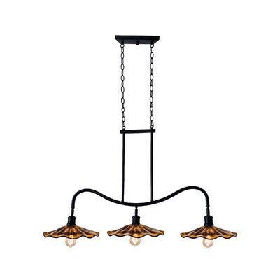 Burnt Sienna 3-Light Kitchen Island Pendant