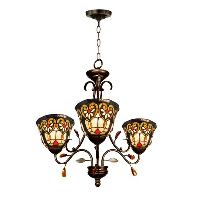 Peony 3-Light Shaded Chandelier
