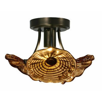 Burnt Sienna 1-Light Semi Flush Mount