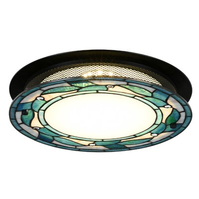 Green Leaves 1-Light Flush Mount