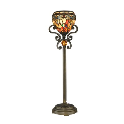 Dragonfly One Light Buffet Lamp in Antique Golden Sand