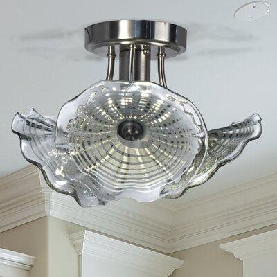 Mohr Glass 1-Light LED Semi Flush Mount