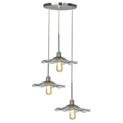 Mohr Glass 3-Light Cluster Pendant