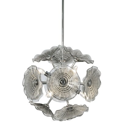 Chafin Art Glass 6-Light Sputnik Chandelier