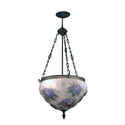Hydrangea Pairpoint 3-Light Foyer Inverted Pendant