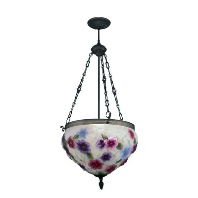 Cosmos Pairpoint 3-Light Foyer Inverted Pendant
