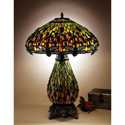 Dale Tiffany Dragonfly Table Lamp Antique Brasstt100273