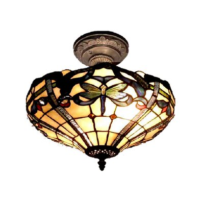 Cabrini 2-Light Semi-Flush Mount