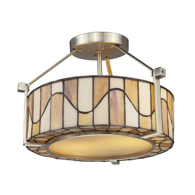 Sandfield 2-Light Semi-Flush Mount