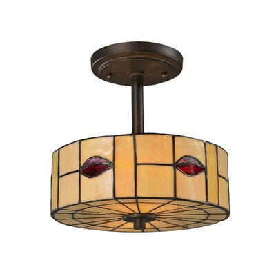 Fantom Leaf 1-Light Semi-Flush Mount