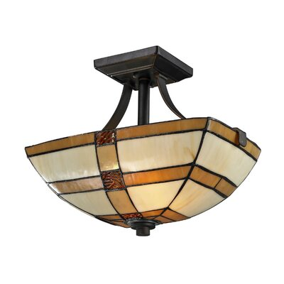 Brisdol 2-Light Semi-Flush Mount