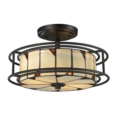 Woodbury 2-Light Semi-Flush Mount