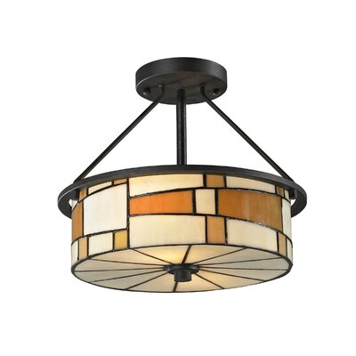 Furniture-Portola 2 Light Semi Flush Mount