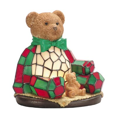 Furniture-Dale Tiffany Noel Bear Night Table Lamp