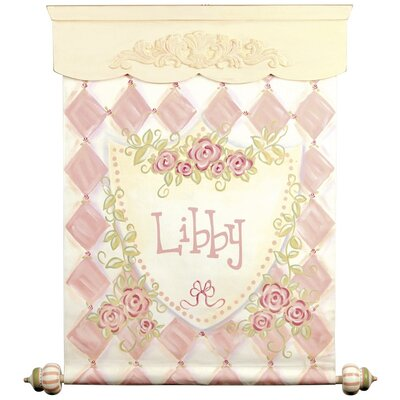 Personalized Rose Banner Hanging Art Color: Pink CP755