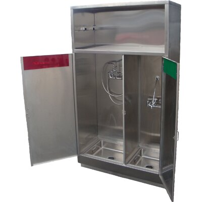 Combination 46 x 24 Clean and Soiled Utility Cabinet with Faucet