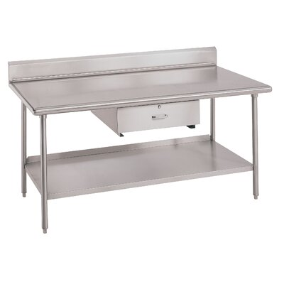 Worktable Utility Prep Table Size: 34 inch H x 144 inch W x 24 inch D