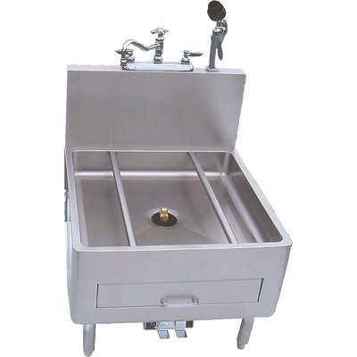 26 x 29 Single Utensil / Can Washer with Faucet