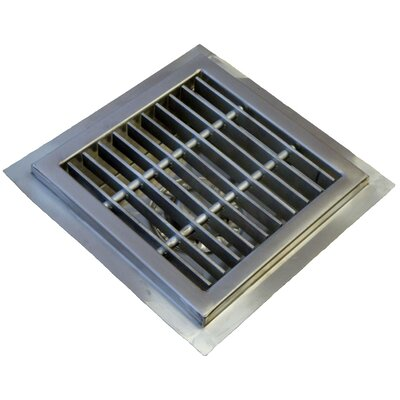 "Floor Sump 10"" Grid Shower Drain FDSS-1010-SG"