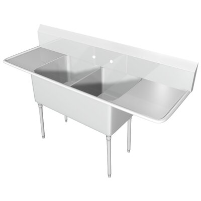 100 x 25.5 Double Scullery Sink