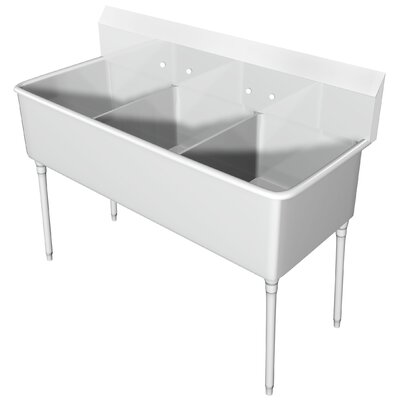 74 x 33.5 Triple Scullery Sink