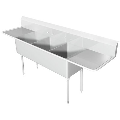 134 x 33.5 Triple Scullery Sink