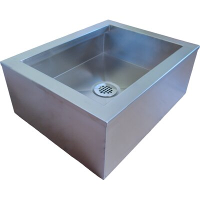 27.5 x 19.5 Single Anti-Splash Mop Sink 16GA Stainless Steel