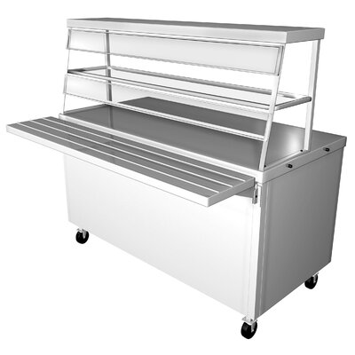 Prep Table with Stainless Steel Top Size: 36 H x 77 W x 30.5 D