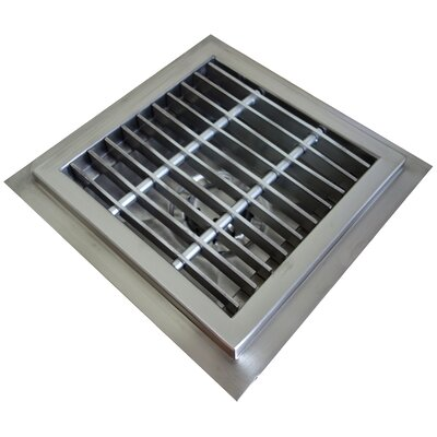 "Floor Sump 4"" Grid Shower Drain FDSS-1010-SG"