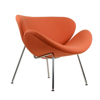 Paula Lounge Chair Upholstery: Orange