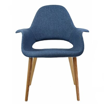 The Organic Arm Chair Color: Blue