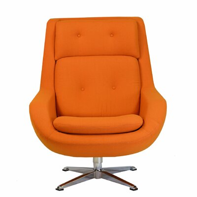 Commander Swivel Arm Chair Color: Orange