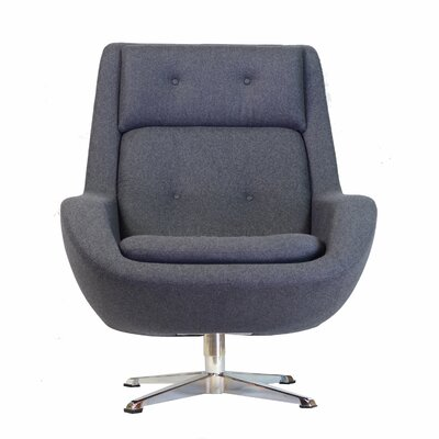 Commander Swivel Armchair Color: Gray