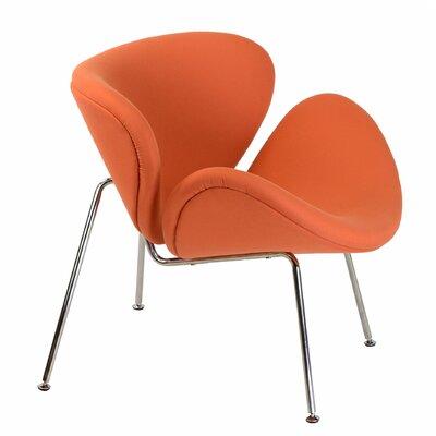 Paula Lounge Chair Upholstery: Orange