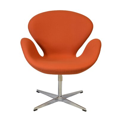 Swan Lounge Chair Color: Orange