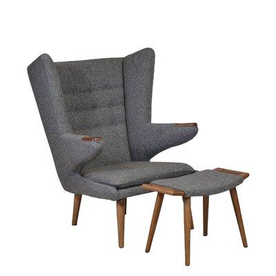 Papa Bear Wingback Chair and Ottoman
