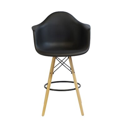 26.4 Bar Stool Upholstery: Black Arm