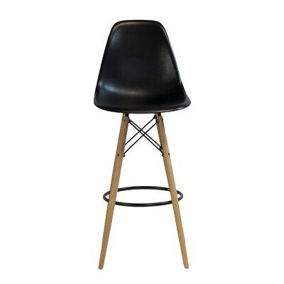 26.4 Bar Stool Upholstery: Black