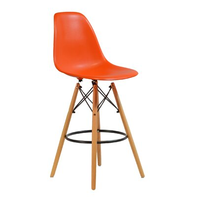 26 Bar Stool Upholstery: Orange