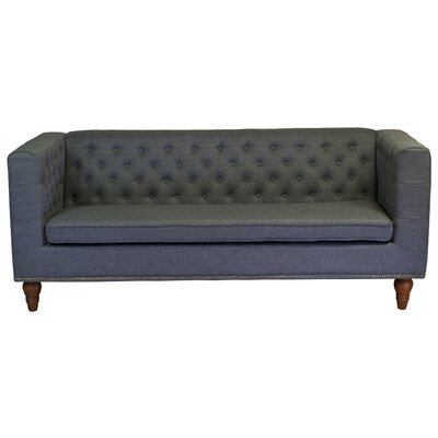 Giselle 3 Seater Chesterfield Sofa Upholstery: Gray